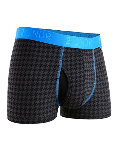 2UNDR Mens Swing Shift Trunk Boxers Dog Tooth M