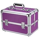 Ollieroo Makeup Train Case Professional 14' Large Make Up...