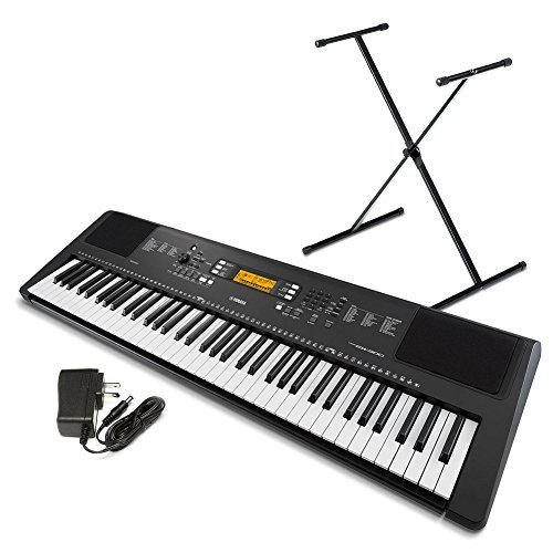 Yamaha PSR-EW300 SA 76-Key Portable Keyboard Bundle with Stand and Power Supply