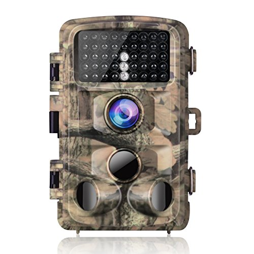 "Campark Trail Camera-Waterproof 14MP 1080P Game Hunting Scouting Cam with 3 Infrared Sensors for Wildlife Monitoring with 120°Detecting Range Motion Activated Night Vision 2.4"" LCD 42pcs IR LEDs"