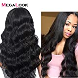 Megalook 360 Lace Frontal Wigs Human Hair Brazilian Body Wave Human Hair Wigs Natural Hairline Human Hair Lace Wigs 150% Density