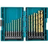 Makita B-65399 Impact Gold 14 Pc. Titanium Drill Bit Set, 1/4' Hex Shank