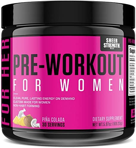 Pre Workout for Women with L Arginine (v2) - Energy, Stamina, Healthy Weight Loss | Non-GMO & Non-Habit-Forming | Nitric Oxide Booster Powder Supplement - Sheer Strength Labs, 30 Servings 1