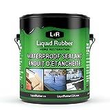 Liquid Rubber Waterproof Sealant/Coating - Indoor & Outdoor Use | Easy to Apply | Water Based | Original Black | 1 Gallon