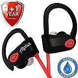 Alpha Beats Wireless Earbuds - Exclusive 2019 - Best Wireless Earbuds - Workout Headphones - Sport Headphones - Running Headphones - Waterproof Headphone - IPX7 - w/Mic Noise Canceling - for Women Men