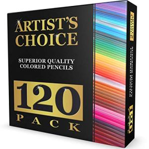 120 Colored Pencils (GIANT EXTRA LARGE SET) – 120 Unique Colors (NO DUPLICATES) – Premium Grade & Pre-Sharpened – Color Coordinating Barrels – Perfect for Kids, Art School Students, or Professionals!