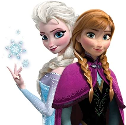Amazon Com Frozen Anna Elsa For Light Colored Materials Iron On Heat Transfer  Everything Else