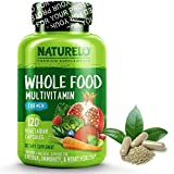 NATURELO Whole Food Multivitamin for Men - with Natural Vitamins, Minerals, Organic Extracts - Vegan Vegetarian - Best for Energy, Brain, Heart and Eye Health - 120 Capsules