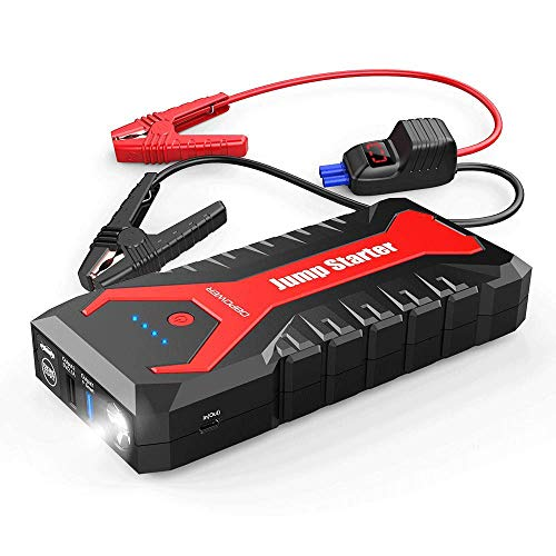 DBPOWER 2000A 19200mAh Portable Car Jump Starter Auto Battery Booster Pack with Dual USB Outputs, Type-C Port, and LED Flashlight