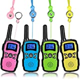 Wishouse Walkie Talkies for Kids 4 Packs, Two Way Radio Family Talkabout for Adults Long Range, Outdoor Camping Hiking Halloween Fun Toys Birthday Gift for 3 4 5 6 7 8 9 10 11 12 Year Old Girls Boys
