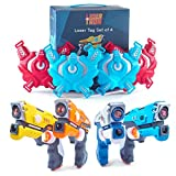 LaserTron Laser Tag Infrared Laser Toy Gun & Vest Set - 8 Pieces (4 Players) Battle Game for Indoor & Outdoor - Great Gift for Boys & Girls of All Ages
