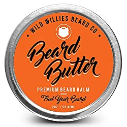Beard Balm Conditioner for Men - Wild Willie's Beard Butter - Amazing Beard Balm with 13 Natural Locally Sourced Ingredients to Condition and Treat Your Beard or Mustache at The Same Time.  Image