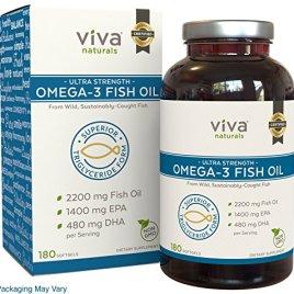Viva Naturals Fish Oil Softgels 180 Count