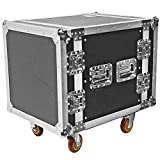 Seismic Audio - SATAC10U - Heavy Duty 10 Space ATA Rack Case with 4 Inch Casters - Pro Audio DJ Rack - 10U Server Network Case