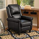 Christopher Knight Home 296597 Lloyd Black Leather Recliner Club Chair