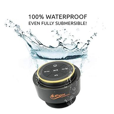 iFox-iF012-Bluetooth-Shower-Speaker-Certified-Waterproof-Wireless-It-Pairs-Easily-to-All-Your-Bluetooth-Devices-Phones-Tablets-Computer-Radio