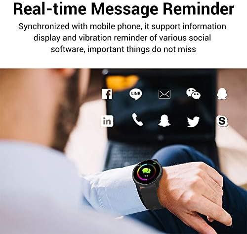 LIGE Smart Watch for Men and Women Heart Rate Sleep Monitor Remote Camera Control Notification Reminder IP67 Waterproof Fitness Exercise Tracker Sedentary Reminder Function Compatible iOS and Android… 3