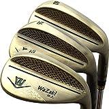 wazaki Japan Copper Finish M Pro Forged Soft Iron USGA R A Rules of Golf Club Wedge Set(Pack of Three)