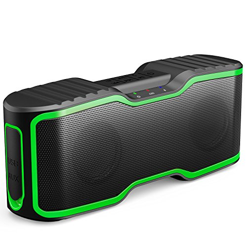 AOMAIS Sport II Portable Wireless Bluetooth Speakers 4.0 Waterproof IPX7, 20W Bass Sound, Stereo Pairing, Durable Design Backyard, Outdoors, Travel, Pool, Home Party Green