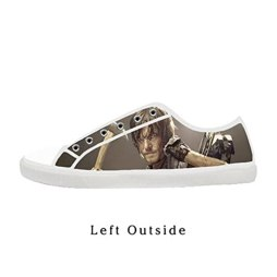 Custom Women The Walking Dead Daryl Dixon Canvas Shoes Comfortable Sneakers US8