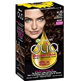 Garnier Olia Ammonia-Free Brilliant Color Oil-Rich Permanent Hair Color, 4.35 Dark Golden Mahogany (Pack of 1) Brown Hair Dye