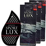 Areon Sport LUX Quality Perfume/Cologne Cardboard Car & Home Air Freshener, Silver (Pack of 3)