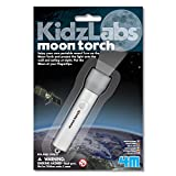 4M KidzLabs Moon Torch Projector Astronomy Science STEM Toys Educational Gift for Kids & Teens, Girls & Boys