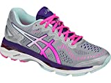 ASICS Women's Gel-Kayano 23 Running Shoe, Silver/Pink Glow/Parachute Purple, 8 M US