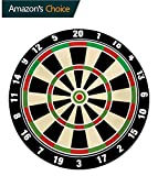 Sports Computer Chair Floor Mat,Dart Board Numbers Sports Accuracy Precision Target Leisure Time Graphic Printed Round Carpet For Children Bedroom Play Tent,Round-51 Inch Vermilion Green Black