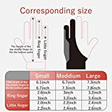 ELECOM, Japan Brand, Two-Finger Glove for Graphic Drawing, De-Energized pad, Both Hands Compatible,TB-GV2S, Small