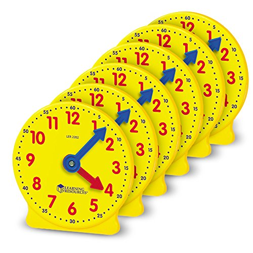 Learning Resources Gear Clock, 4 Inch (Set of 6)