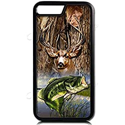 Hunting iPhone 8/8Plus Case,Deer and Bass iPhone 7/7 Plus Case