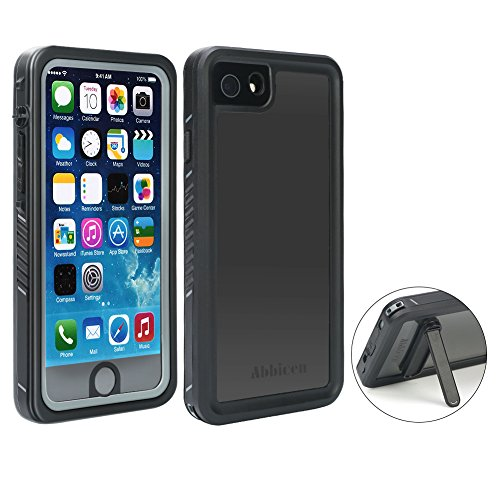 Abbicen Waterproof Case for iPhone 7 and 8 Phone Case with Kickstand Full Body Protective Case Cover with Built-in Screen Protector Underwater/Shockproof/Dirtproof/Snowproof.