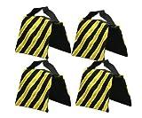 StudioFX SANDBAG Sand Bag SADDLEBAG DESIGN WEIGHT BAGS FOR PHOTO VIDEO STUDIO STAND by Kaezi Photography (Yellow - 4 Pack)