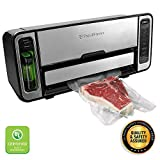 FoodSaver FM5860 Vacuum Sealer Machine with Express Bag Maker & Auto Bag Dispense and Rewind | UL Safety Certified | Silver