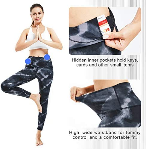 Souke Sports Women's High Waisted Yoga Pants,Tummy Control Workout Running Yoga Leggings with Pockets 4