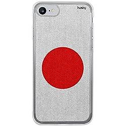 Capa Personalizada Bandeira Japão, Husky para Iphone 8, Capa Protetora para Celular, Multicor
