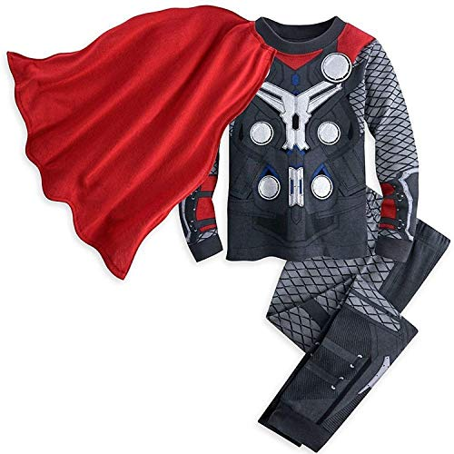Disney Store Avengers Thor Boy 2PC Long Sleeve Costume Caped Pajama Set Size 7