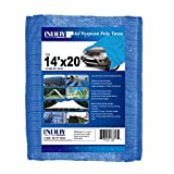 INDDY 14 X 20 Feet Blue Large Waterproof Multi Purpose Outdoor Poly 5 mil Tarp Cover