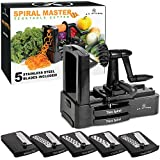U.S. Kitchen Supply Spiral Master Vegetable Cutter with 5 Versatile Stainless Steel Slicer Blades and Blade Case - Durable, Innovative, Safe - Make Spiral Veggie Pasta, Spaghetti - Cut Fruit