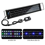 Yescom 24' Multi-Color 78 LED Aquarium Light for 24-30inches Freshwater Saltwater Fish Tank Lamp