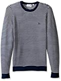 Product review for Lacoste Men's Made In France Stripe Crew With Side Zipper Sweater