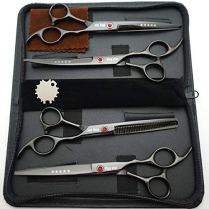 70in-Titanium-Professional-Pet-Grooming-Scissors-SetStraight-Thinning-Curved-Scissors-4pcs-Set-for-Dog-Grooming