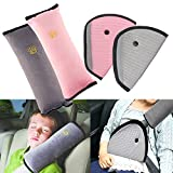 R ? HORSE 4Pack Seatbelt Pillow Car Seat Belt Covers for Kids, Adjust Vehicle Shoulder Pads Safety Belt Protector Cushion Plush Soft Auto Seat Belt Strap Cover Headrest Neck Support for Children Baby