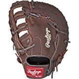 Rawlings Player Preferred Baseball First Base Mitt, Right Hand, Single-Post Double-Bar Web, 12-1/2 Inch