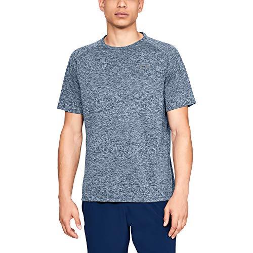 Under Armour Men's Tech 2.0 Short Sleeve T-Shirt, Academy (409)/Steel, 3X-Large