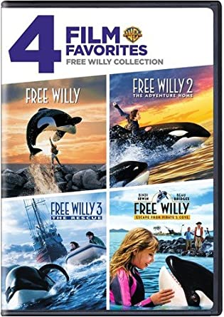 4 Film Favorites: Free Willy (Free Willy, Free Willy 2: The Adventure Home, Free Willy 3: The Rescue, Free Willy 4)