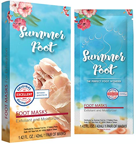 Summer Foot Premium Foot Mask for Baby Soft Feet   Exfoliating Foot Peel & Callus Remover for Feet - Repair rough heels with 1 pair for one-time treatment   Tested in Germany Best Results