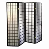 Product review for ORE International 4-Panel Shoji Screen Room Divider, Black