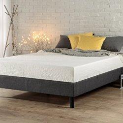 ZINUS Curtis Upholstered Platform Bed Frame / Mattress Foundation / Wood Slat Support / No Box Spring Needed / Easy…